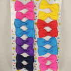 "8 Pack 2"" Solid Color Gro Grain Bow on Gator Clip Asst Bright Colors"