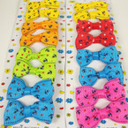 "8 Pack 2"" Anchor/Star Print Bow on Gator Clip Asst Bright Colors"