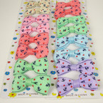 "8 Pack 2"" Anchor/Star Print Bow on Gator Clip Asst Lite Colors .50 ea set"