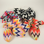 Popular 2 Pack Chevron Print Hair Twisters w/ Bow .50 per set