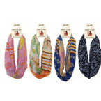 Bold - Chic - In Style Infinity Fashion Scarfs Mixed Styles 48 per bx $2.25 ea