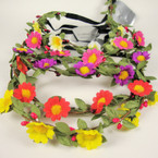 Trendy Flower Headband w/ Elastic Back  Special .49 ea
