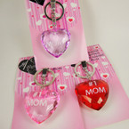 Diamond Cut #1 MOM Puffed Heart Acrylic Keychain 24 per pk  .85 ea