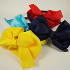 "Fashion Asst Color Heabdand w/ 4"" Gro Grain Bow .54 ea"