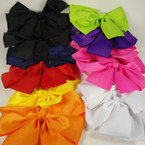"6"" x 4"" Bright Color Gator Clip Fashion Bow .54 ea"