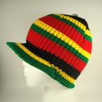 """8"""" Rasta Color Knit Cap w/ Brim  $ 2.25 ea"""