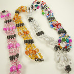 "35"" Magnetic Beaded Necklace/Bracelet w/ Oval MBL Beads .54 ea"