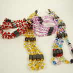 "35"" Magnetic Beaded Necklace/Bracelet w/ Mixed Color Solid Beads .54 ea"