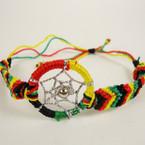 Handmade Rasta Color Dream Catcher Theme Fashion Bracelet .71 ea