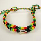 Handmade Rasta Color Bracelet w/ Beads & Real Shark Tooth .71 ea