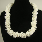 "16"" All White Chunky Shell Choker Necklace .75 ea"