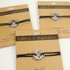 Tokens of Inspirition Adj. Bracelet .85 ea 24 per counter display