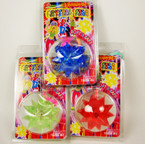 "2"" Gummy Flashing Crystal Star Necklace Asst Colors .58 ea"