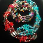 "35"" Magnetic Necklace/Bracelet w/ Chipped Stones .54 ea"