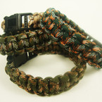 Para Cord Survival Bracelet Mixed Camo Colors .60 ea