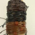 Leather Multi Cord Teen Bracelet Browntones & Black .54 ea