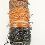 Teen Multi Cord Braid Leather Bracelet .54 ea