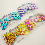 "4"" Bling Out Style Bow Shaped Style Hair Clip (gator clip) .54 ea"