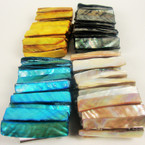 "1.75"" Wide Colorful Shell Stretch Bracelet Mixed Colors ONLY .56 ea"