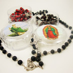 "36"" Scented Wood Bead Rosary in Keepstake Box  ONLY .54 ea"