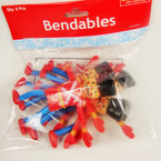 6 Pk Toy Soldier Bendables For the Holiday 4/6pks per master bag