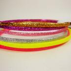3 Pack Kid's Glitter Fashion Headbands Mixed Colors .54 per set