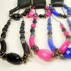 """16"""" Colored Bead Necklace & Bracelet Set SPECIAL  .50 ea set"""