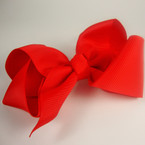 """5.5"""" Gro Grain Bow on Gator Clip All Holiday Red .54 ea"""