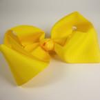 "5"" Gro Grain Bow on Gator Clip All Yellow Color .54 ea"