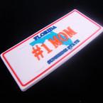 "1.5"" X 3.5"" PVC # 1 MOM  License Plate Anywhere Magnet .42 ea"