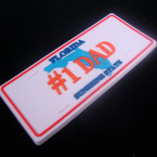"""1.5"""" X 3.5"""" PVC # 1 DAD  License Plate Anywhere Magnet .42 ea"""