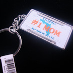 "2"" Metal # 1 MOM Florida License Plate Keychain .60 ea"