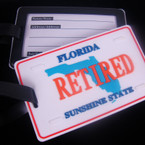 """2.5"""" X 4"""" Heavy Duty Retired Florida Luggage Tag 12 per pk .90 ea"""