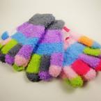 Cute Multi Color Pattern Kid's Winter  Knit  Magic Gloves .54 ea pr