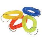 Coil Keychain w/ Metal Ring Asst Colors 12 per bag .16 ea