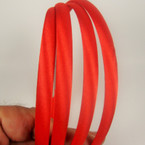 4 Pack Satin Headbands All Red .54 per set