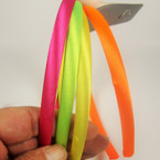 4 Pack Satin Headbands Mixed Bright Neon Colors .54 per set