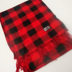 "11"" X 56"" Fleece Feel Acrylic Fabric Scarf Checker Print  .79 ea"