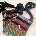 """4"""" X 6"""" 2 Zipper Long Strap Side Bag w/ Fashion Tribal Print   .56 ea"""