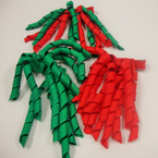 "4"" Christmas Color Curly Ribbon Bow on Gator Clip 24 per pack VALUE PRICE .28 ea"