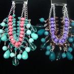 DBL Silver Chain Fantasy Bead Bracelet Asst Colors .56 ea