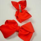 "5"" Hot Red Color Gator Clip Gro Grain Fabric Bow .54 ea"