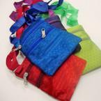 "4"" X 6"" 2 Zipper Long Strap Side Bag w/ Solid Color Shiney Finish  .56 ea"