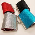 """3.5"""" Sparkle Snap Clossure Coin Purse Asst Colors .56 ea"""