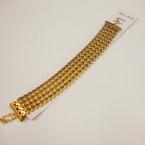 """1"""" Wide Gold Chevron Pattern Metal Fashion Bracelet .54 ea"""