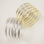 "1.5"" Gold & Silver Slinky Style Metal Bangles Cool Look (385) .54 ea"