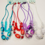 "18"" 2 Strand Beaded Fashion neck Set w/ MBL Beads .54 ea set"