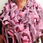 """12"""" X 72"""" Multi Style Knit Magic Two Tone Scarf $ 3.00 ea"""