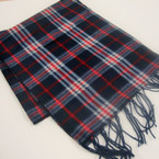 "11"" X 60"" Fleece Feel Acrylic Fabric Scarf Mixed Plaid Patterns   .79 ea"