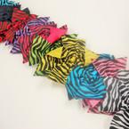 "5"" Asst Bright Color Zebra Print Gator Clip Bow .54 ea"